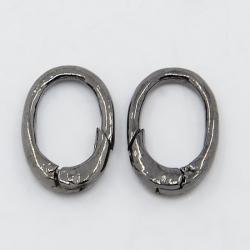 Ring zum aufschieben, oval, Schwarz, 16x11 mm,