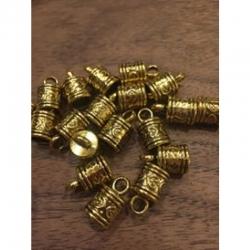 Endkappen antikgold 16x10x7.5mm Bohrung 3mm